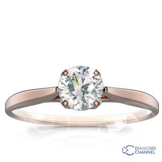 Floral Cathedral Solitaire Engagement Ring (0.50ct tw)