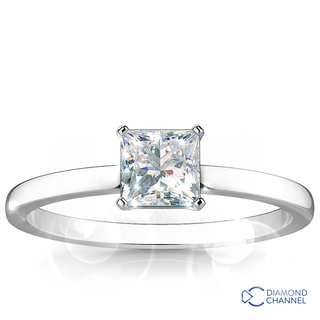Princess Cut Solitaire Diamond Ring (PR-0.44ct tw)
