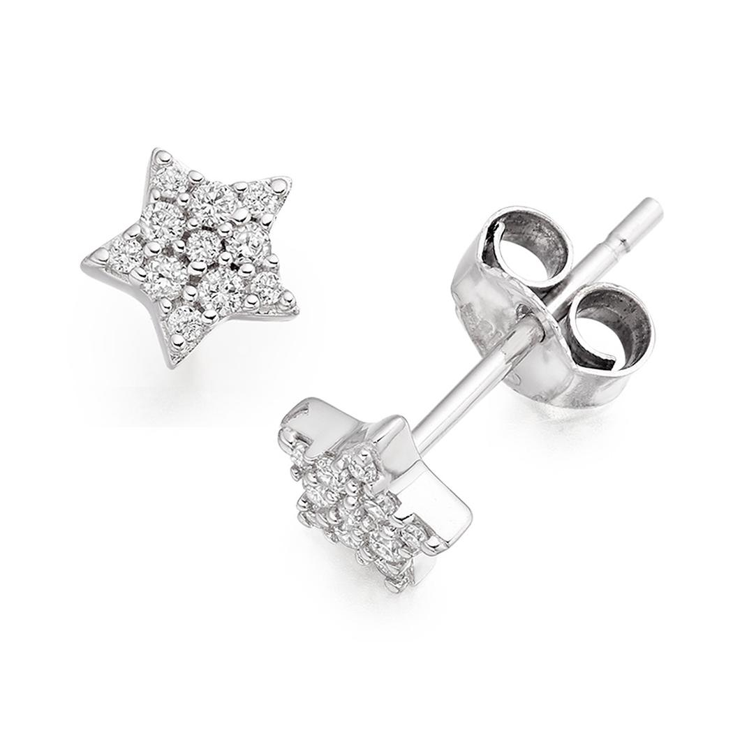 Star Shaped Diamond Studs Tap To Expand