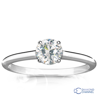 Classic Six Claw Engagement Diamond Ring (0.42ct tw)