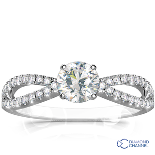 Side Stone Diamond Engagement Ring (0.89ct tw)