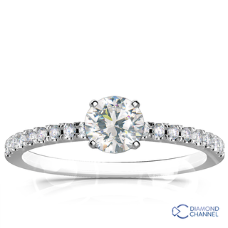 Pave Set Diamond Engagement Ring (0.57ct tw)