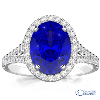 Oval Tanzanite And Diamond Ring (1.5ct tw)