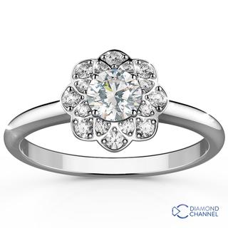 Floral Halo Diamond Ring (0.63ct tw)