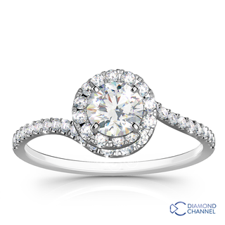 Sidestone Diamond Engagement Ring (0.76ct tw)