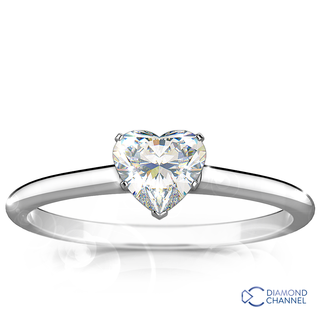 Classic Solitaire Heart Diamond Ring (0.40ct tw)