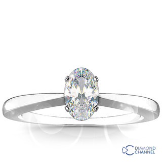 Oval Cut Solitaire Diamond Engagement Ring (0.91ct tw)