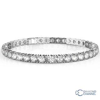 Diamond Classic Four Claw Tennis Bracelet In 18K White Gold (2.76CT TW)