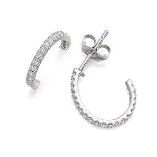 Diamond Eternity Hoop Earrings in 9K White Gold (0.50ct. tw.)
