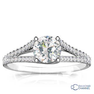 Split Shank Diamond Ring (0.78ct tw)
