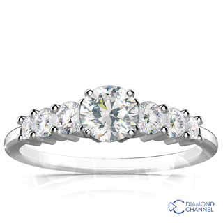 Petite Diamond Engagement Ring (0.62ct tw)