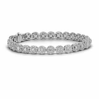 Diamond Halo Bracelet in 18K White Gold  (1.44ct tw)