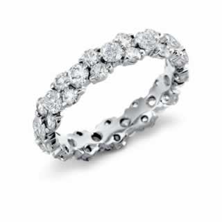 Garland Diamond Eternity Band in 18K White Gold (0.50ct tw)